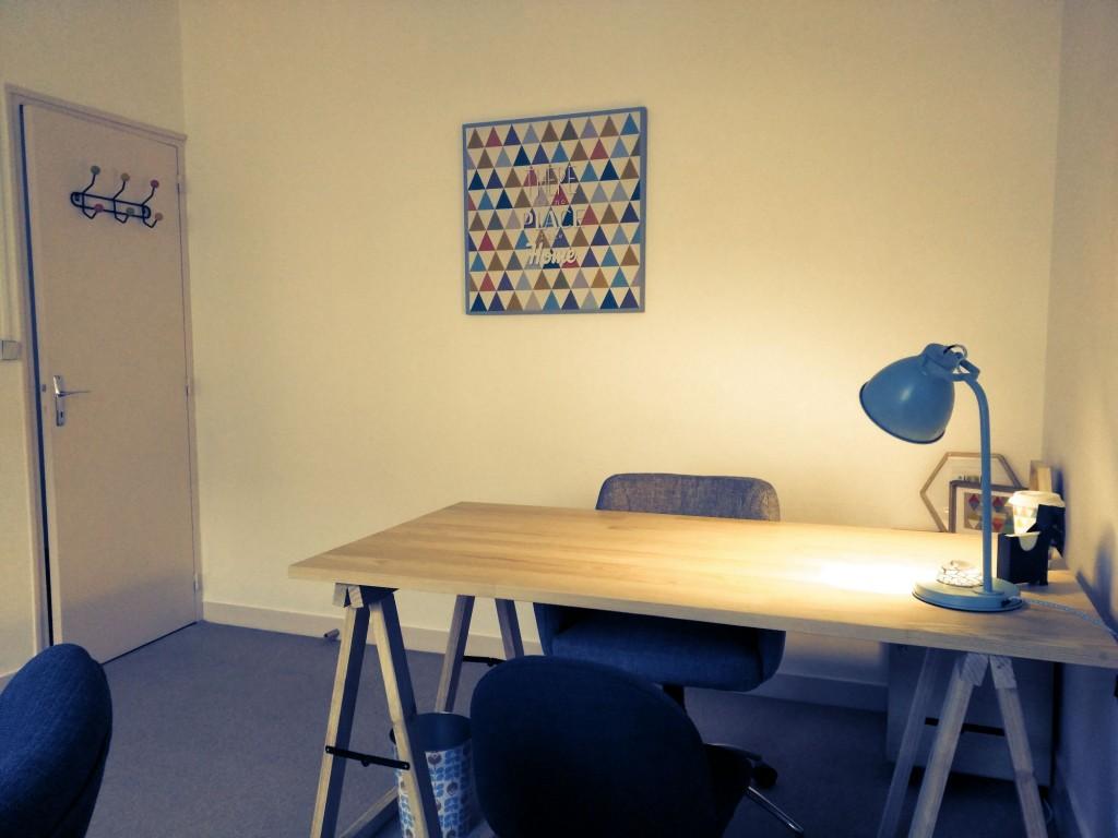 Espace bureau de Margot Duvauchelle - Psychologue sur Amiens