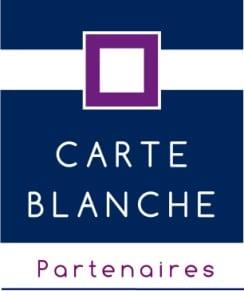 Logo de l'organisme Carte Blanche Partenaire, remboursant les psychothérapies TCC en partenariat avec de nombreuses mutuelles en France